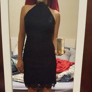 BB Dakota navy lace dress
